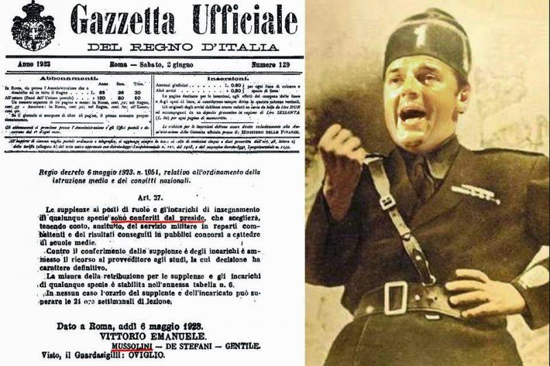 La Riforma della scuola Giannini simile alla fascista Riforma Gentile: i tratti in comune