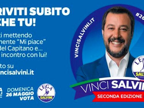 Vinci Salvini, torna il concorso ridicolo che fa rischiare la vostra privacy