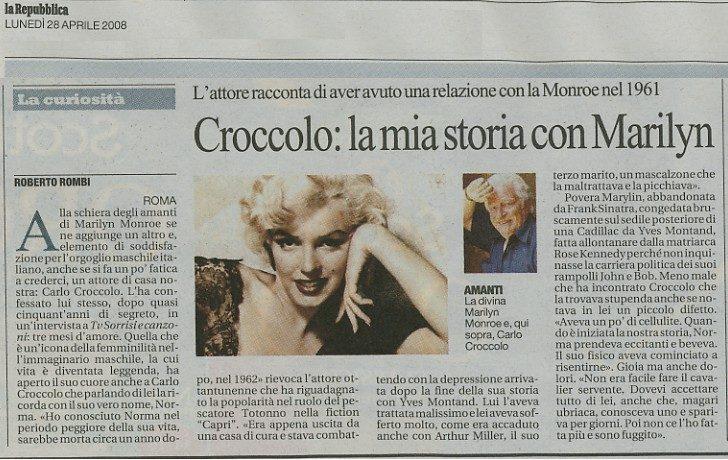Quando Carlo Croccolo poteva salvare Marilyn Monroe