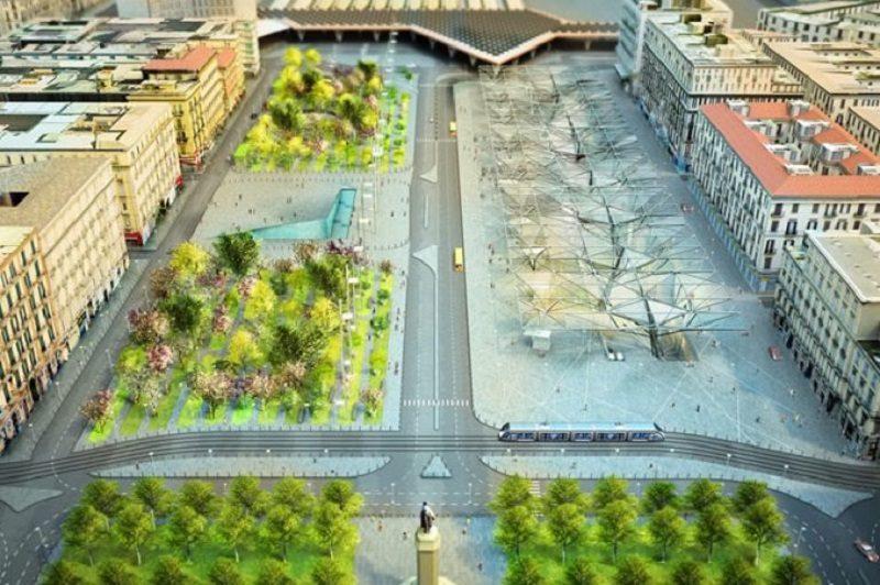 Napoli, inaugurata la nuova Piazza Garibaldi: ma quanto durerà?