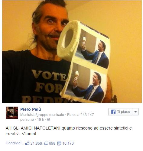 Piero Pelù, il dopo-Sanremo è un disastro: accuse di plagio e multa da pagare a Renzi