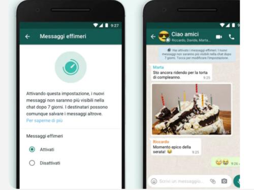 WhatsApp, come attivare messaggi che si cancellano in automatico