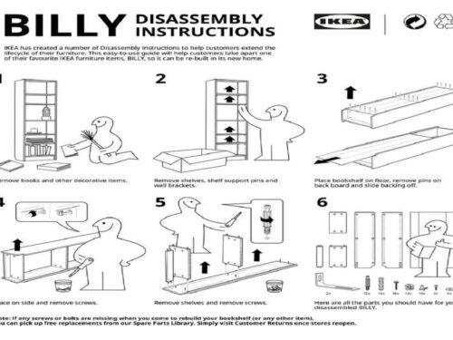 Ikea inserisce anche le istruzioni di smontaggio per salvaguardare l'ambiente