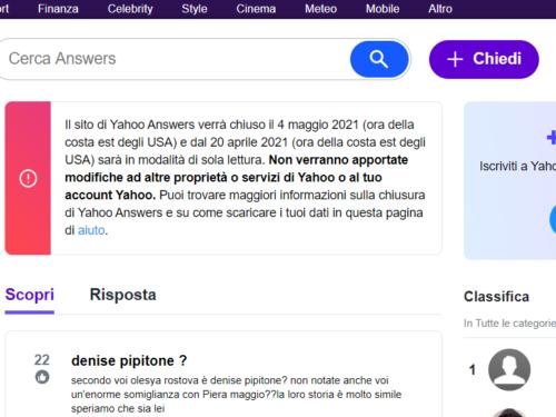 Chiude Yahoo Answers, il sito che ci ha dato tante risposte